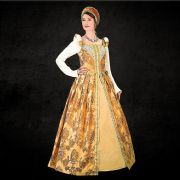 Elizabethan Royal Amber Dress